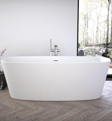 Vasca da bagno Ideal Standard centro stanza freestanding, serie Dea bianco seta